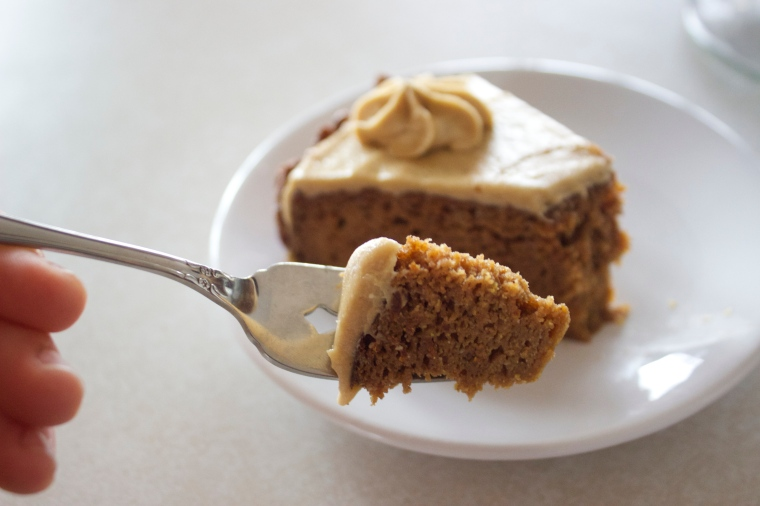 Pumpkin Cake with Caramel Buttercream by PamperedPaleo