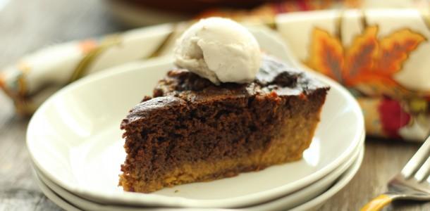 Brownie Egg Nog Pumpkin Pie