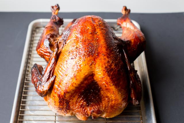 Domestic Man Smoked Turkey