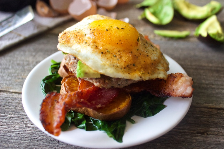 Breakfast Burgers by PamperedPaleo
